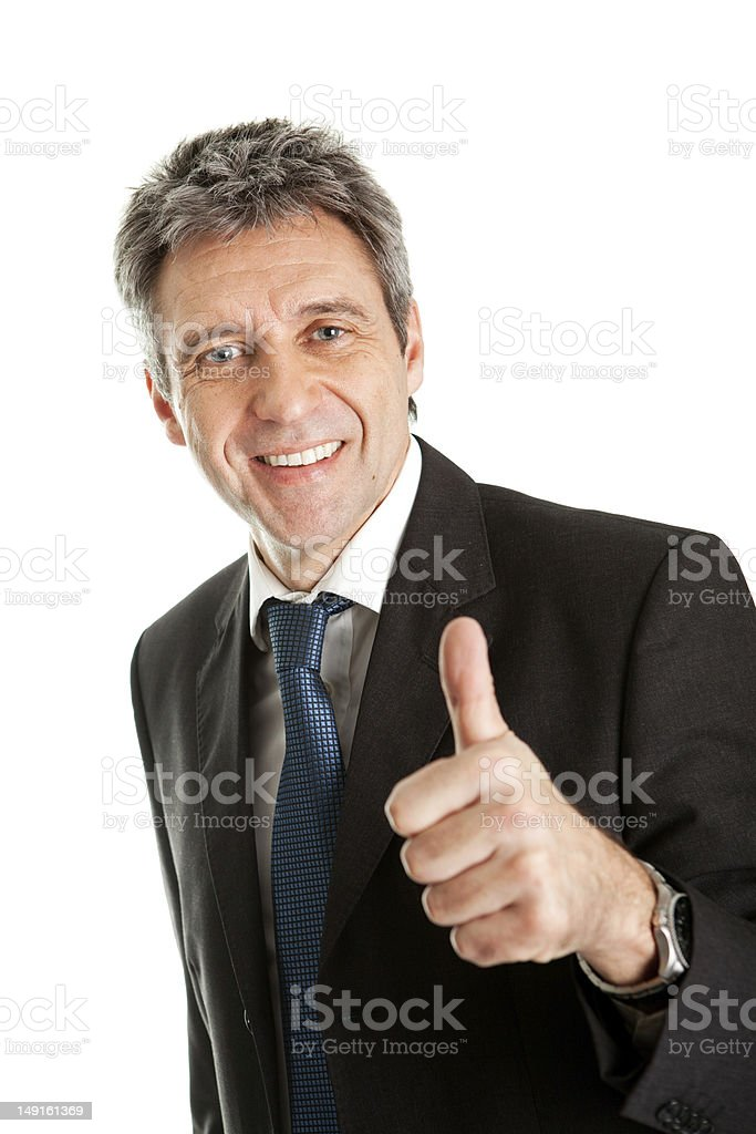 Portrait of successful business man royalty-free stock photo