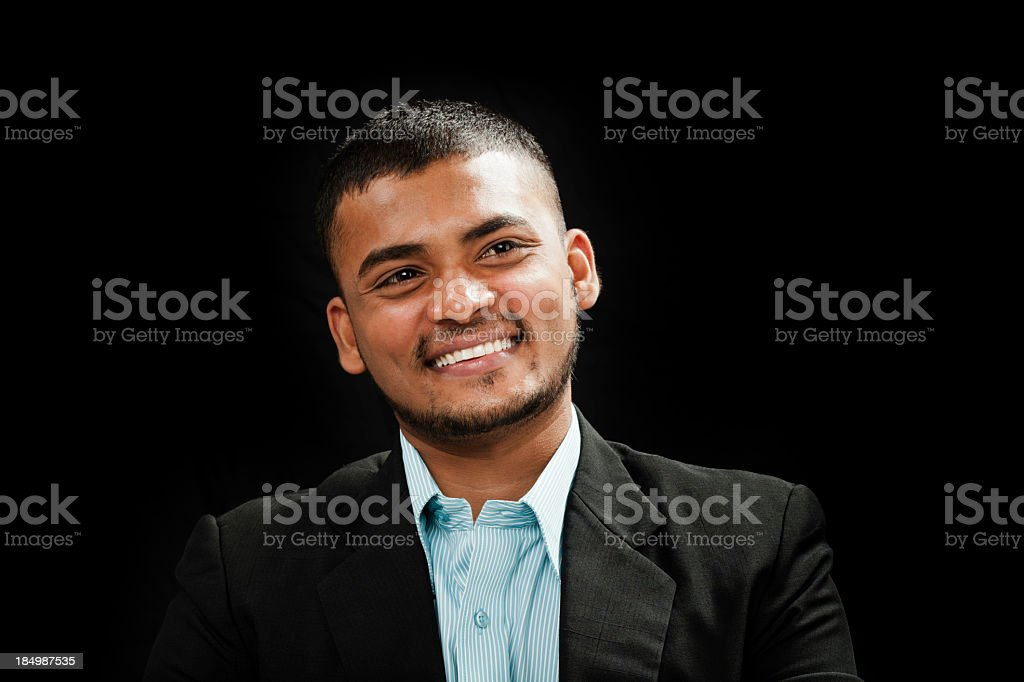 portrait of successful young Indian man royalty-free stock photo
