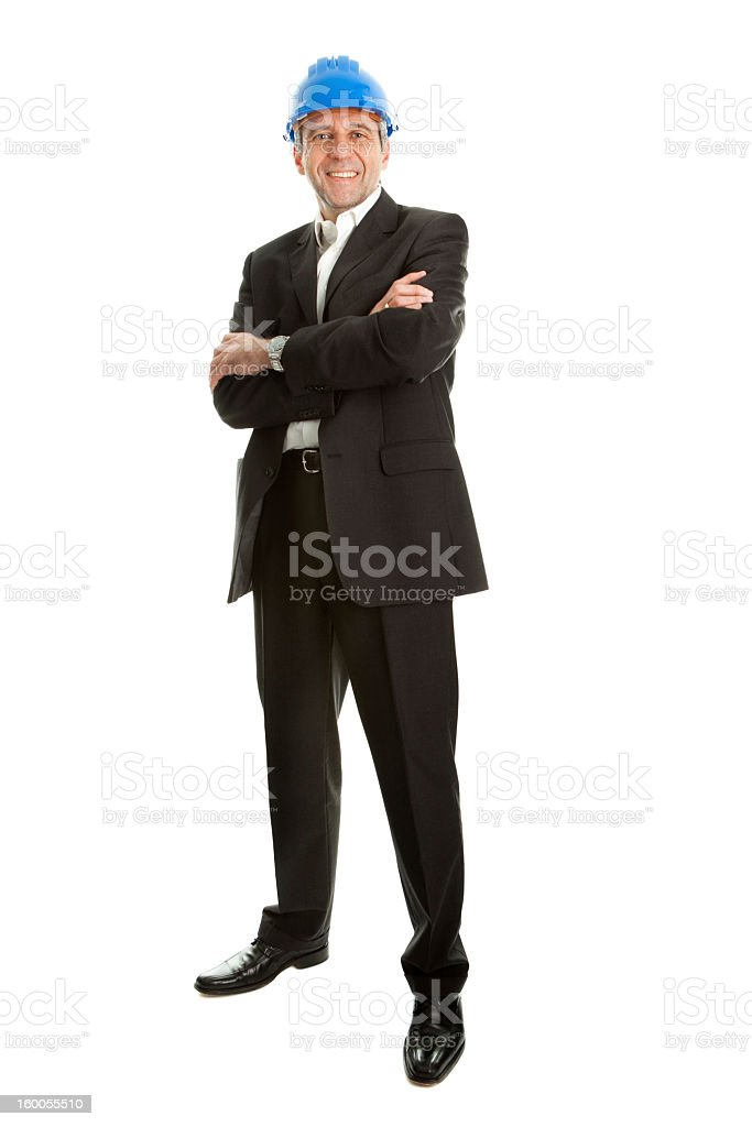 Portrait of successfull architect royalty-free stock photo