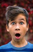 Portrait of surprised little boy