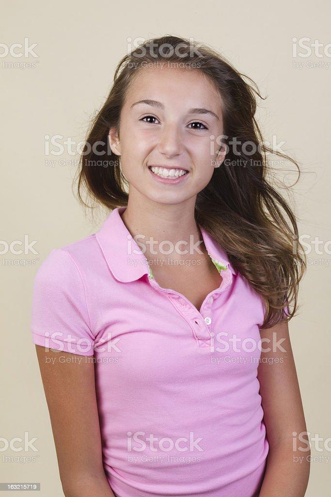portrait of teenage girl royalty-free stock photo