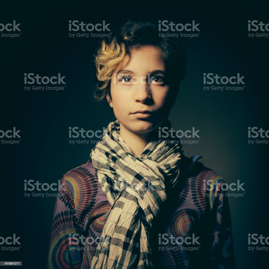 Portrait of Teenage Girl royalty-free stock photo