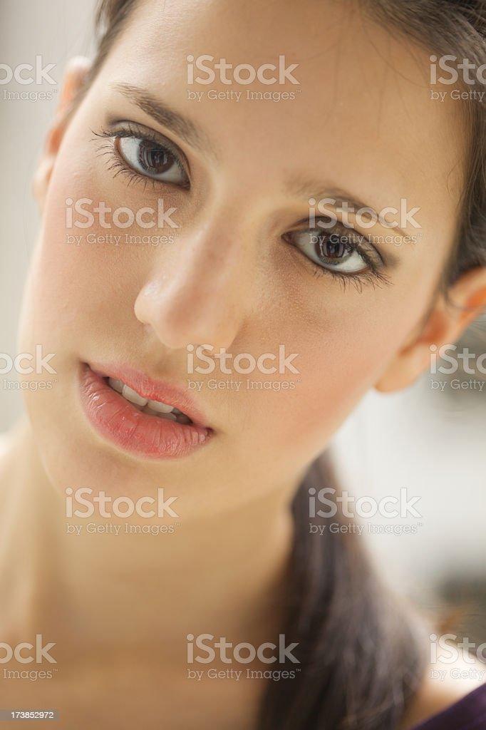 Portrait of teenager stock photo