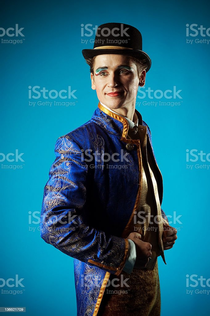 Portrait of the actor stock photo