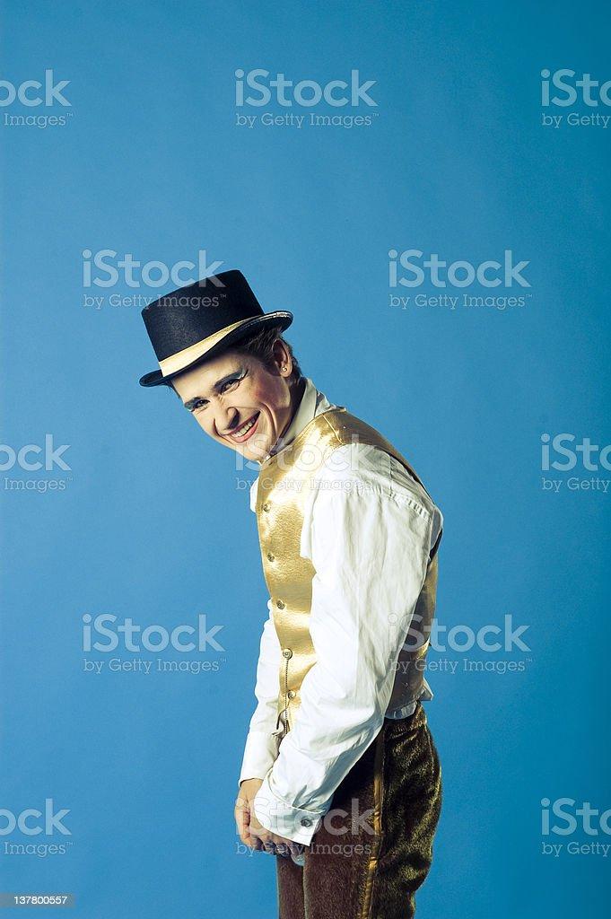 Portrait of the actor stock photo
