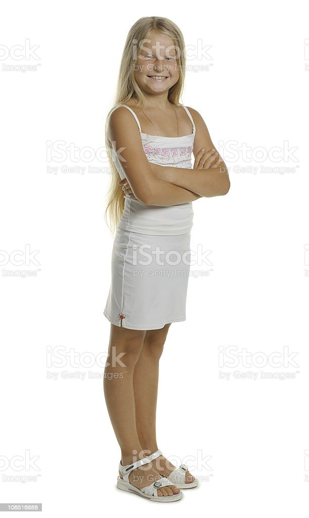 Portrait of the attractive girl standing royalty-free stock photo