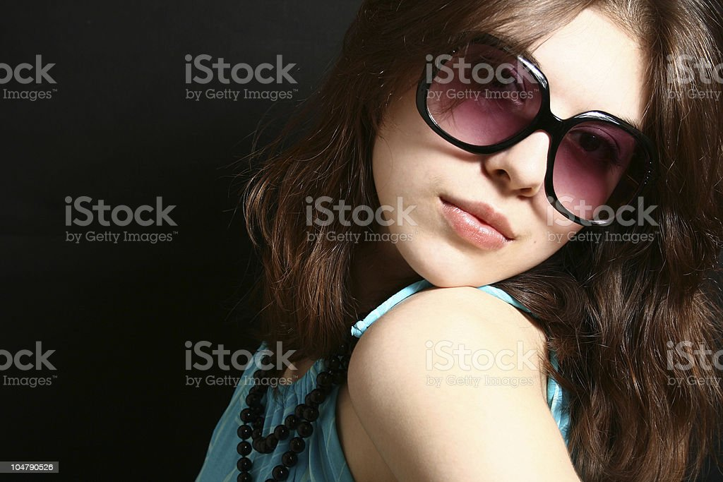 Portrait of the beautiful brunette. royalty-free stock photo