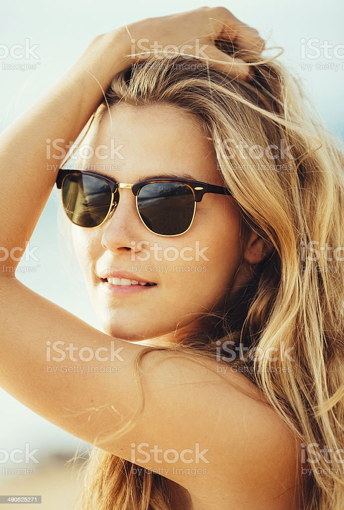 Portrait of the beautiful girl close-up, stock photo