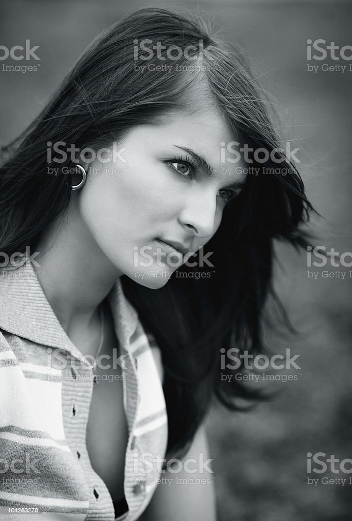 Portrait of the beautiful girl royalty-free stock photo