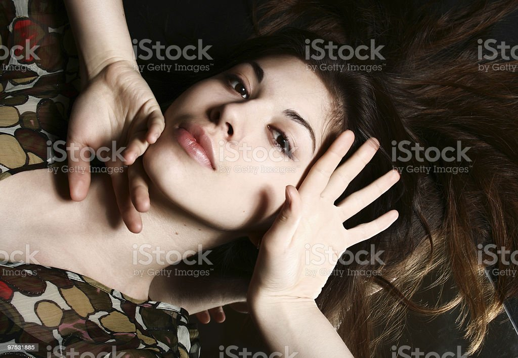 Portrait of the beautiful girl. royalty-free stock photo