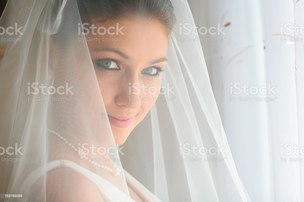 Portrait of the bride royalty-free stock photo