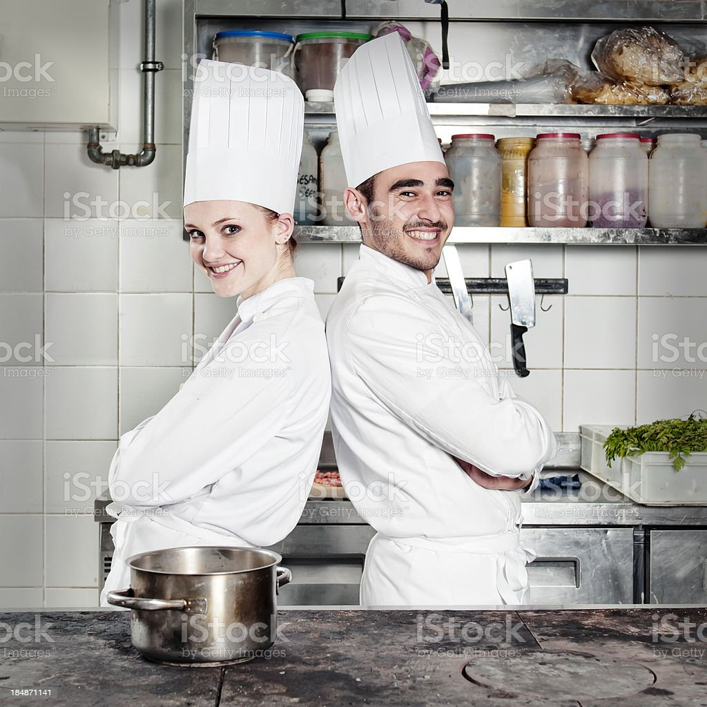 portrait of the chefs royalty-free stock photo