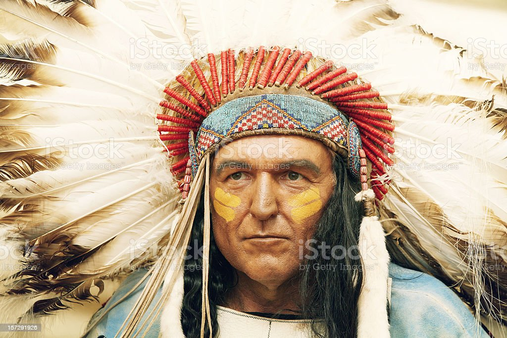 Portrait of the chief royalty-free stock photo