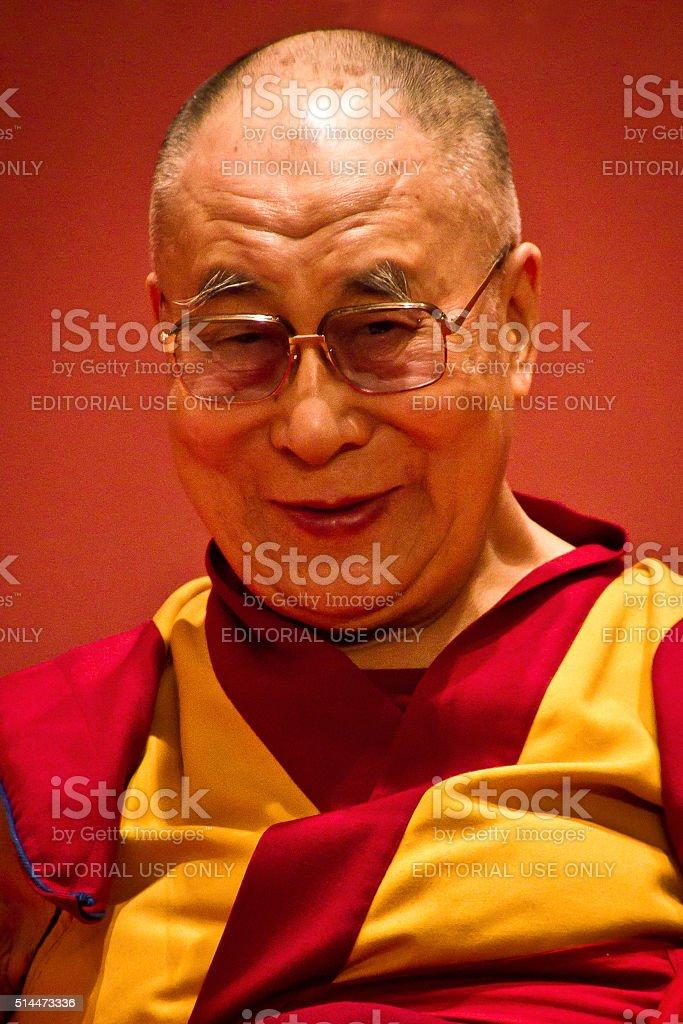 Portrait of the Dalai Lama, India stock photo
