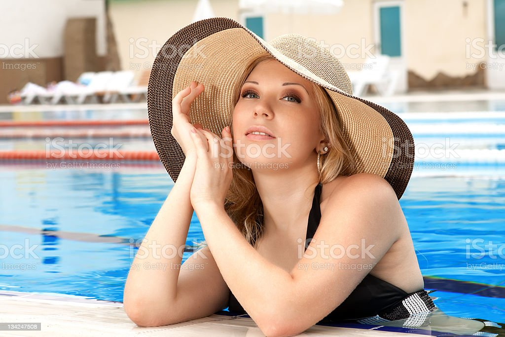 Portrait of the girl in a hat royalty-free stock photo