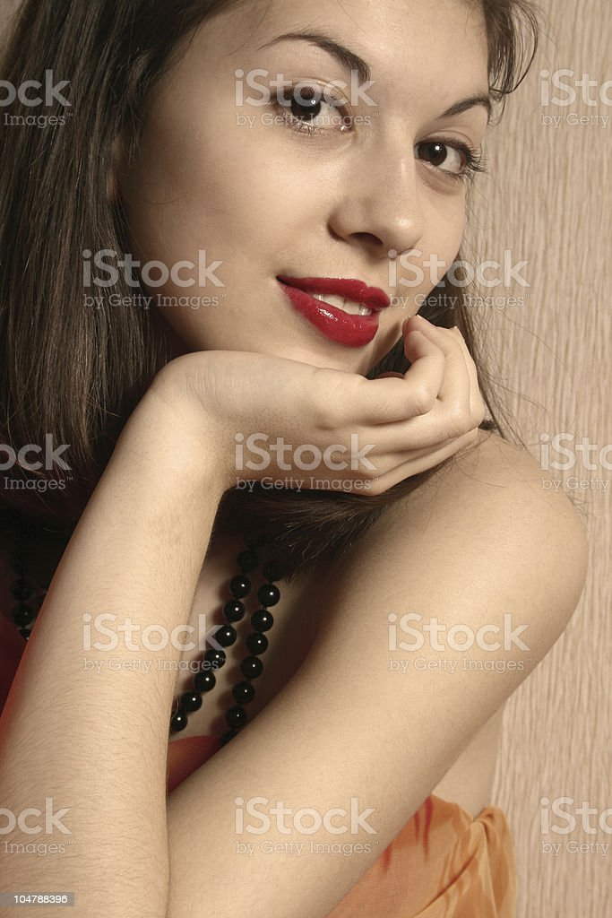 Portrait of the girl. royalty-free stock photo