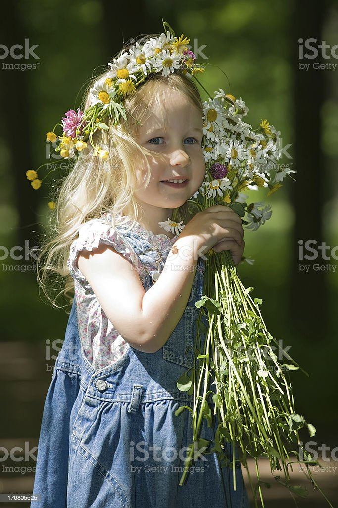 Portrait of the little girl royalty-free stock photo