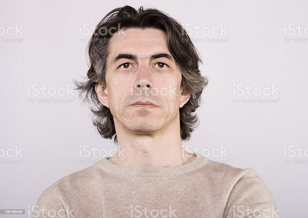 Portrait of the men royalty-free stock photo
