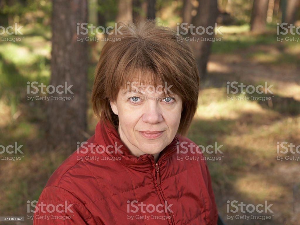 Portrait of the middle-aged woman royalty-free stock photo
