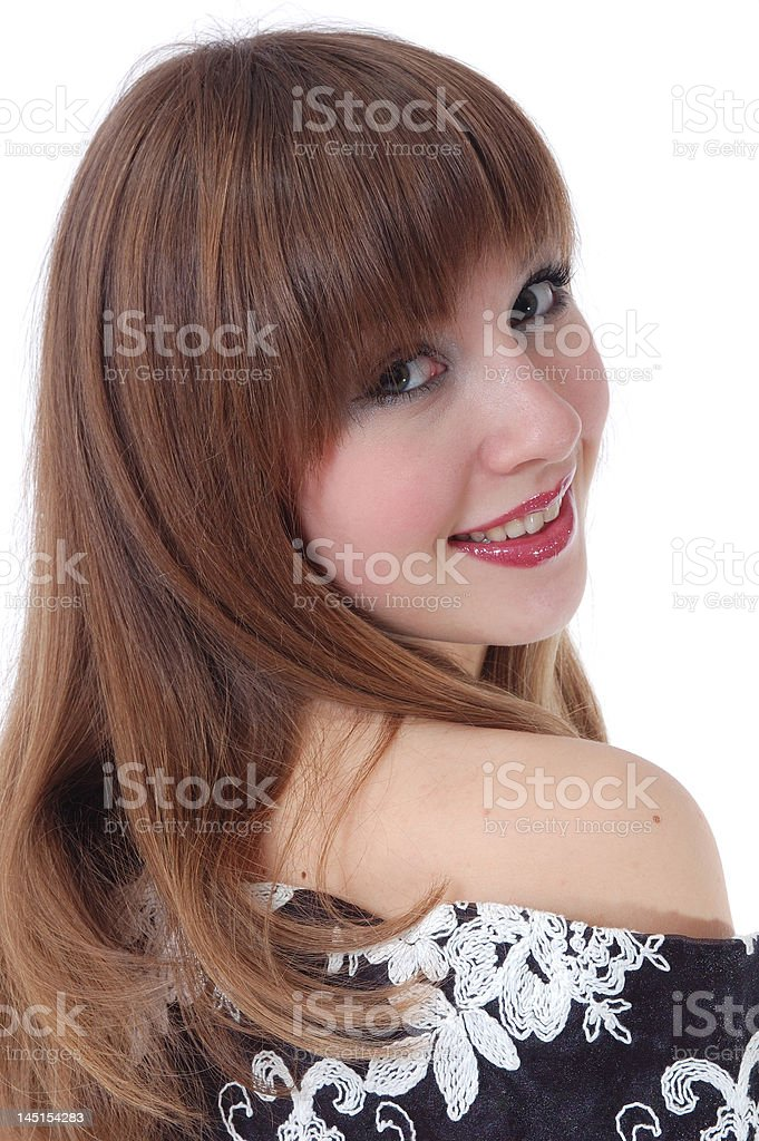 portrait of the nice girl stock photo