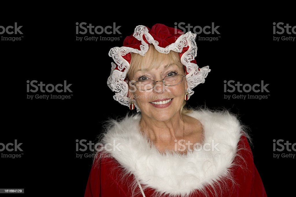 Portrait of the REAL Mrs. Claus stock photo