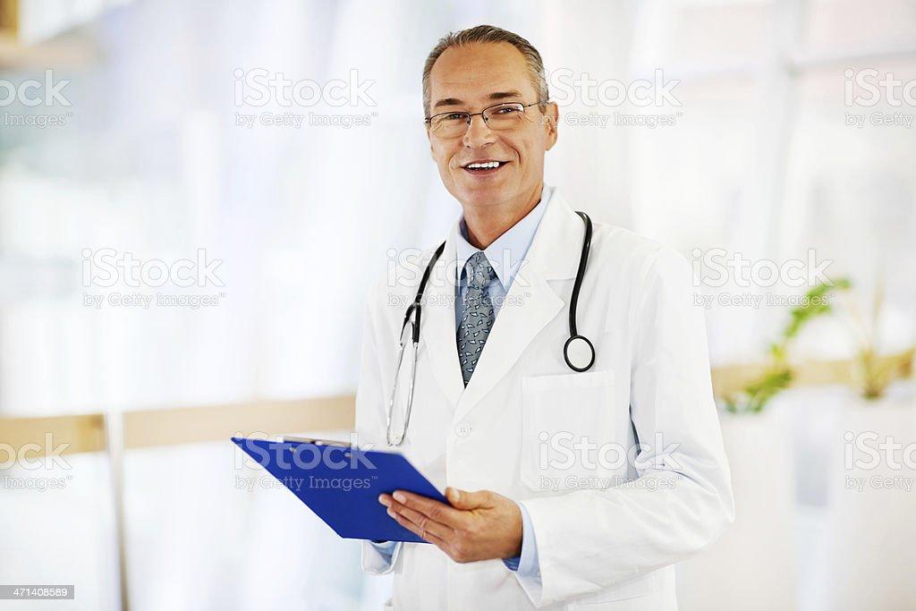 Portrait of the senior doctor. royalty-free stock photo