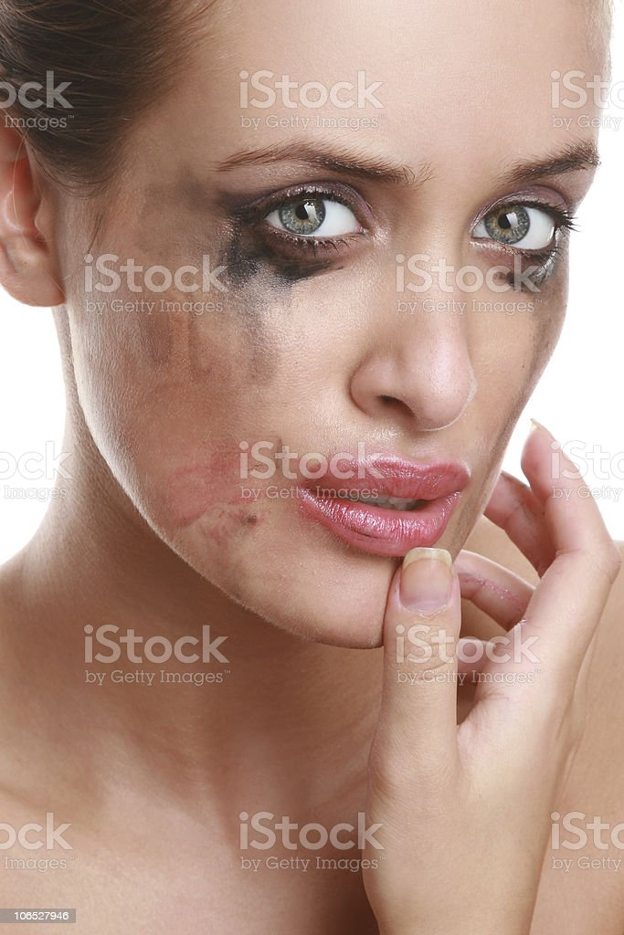 Portrait of the suppressed girl stock photo