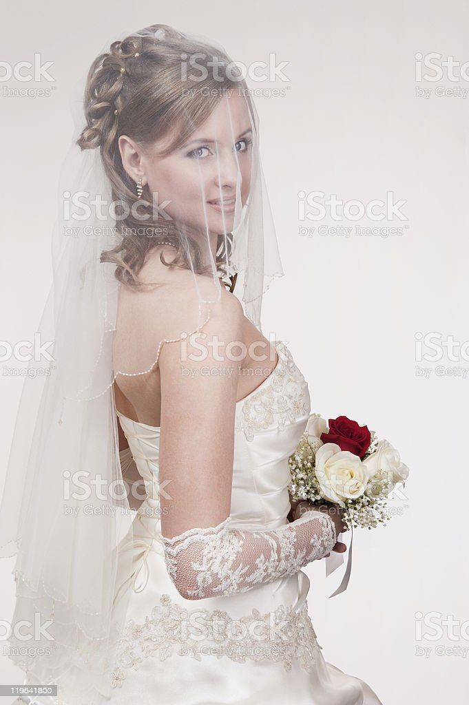 Portrait of the young bride royalty-free stock photo