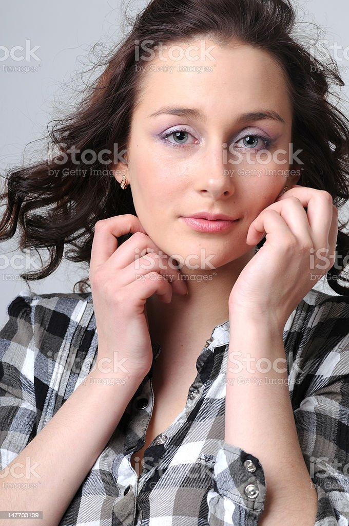 Portrait of the young girl royalty-free stock photo