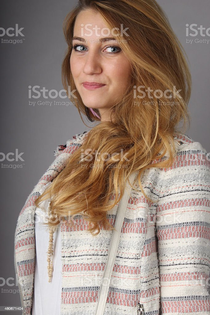 portrait of the young girl stock photo