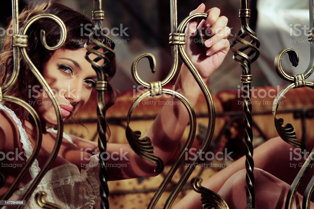portrait of the young lady royalty-free stock photo