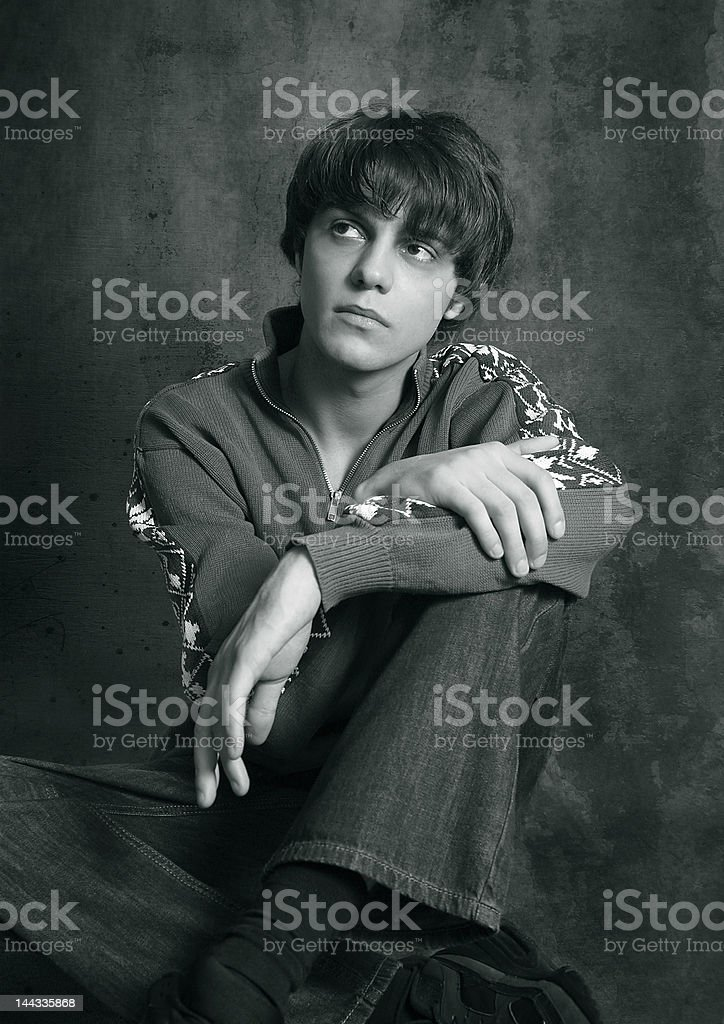 Portrait of the young man stock photo