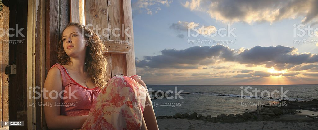 Portrait of the young woman. royalty-free stock photo