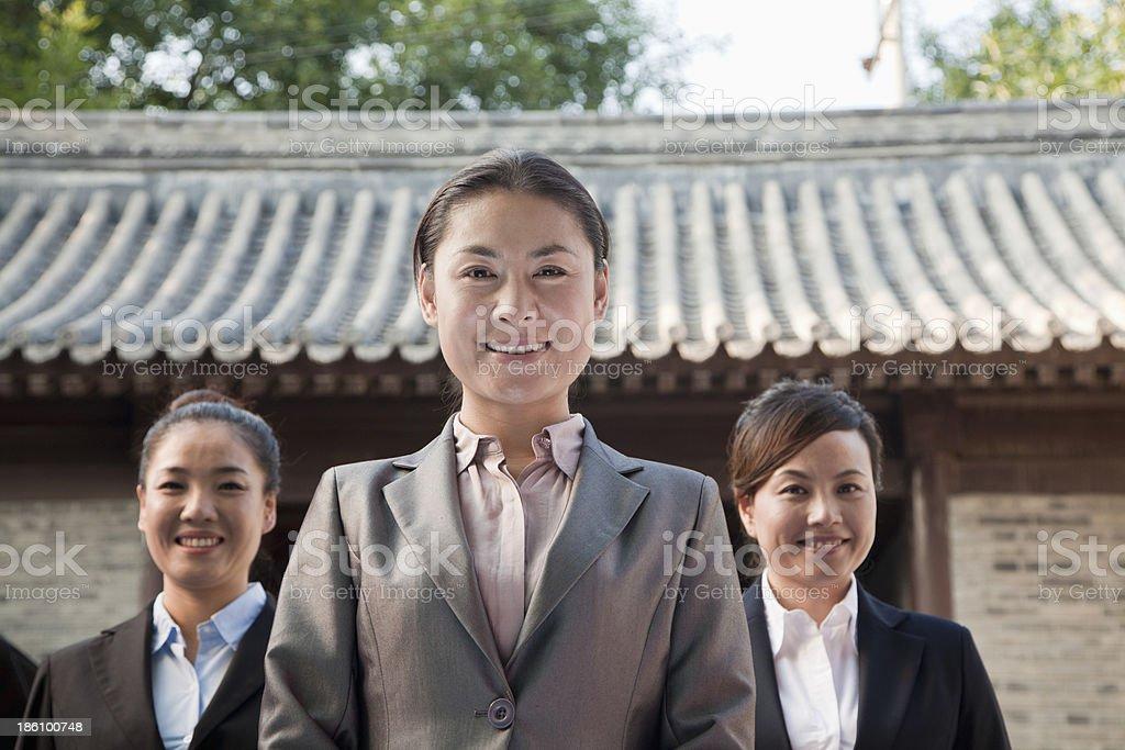 Portrait of Three Businesswomen royalty-free stock photo