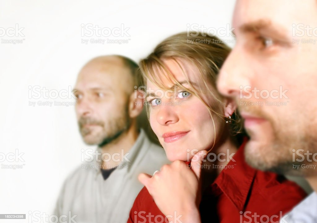 Portrait of three co-workers. royalty-free stock photo