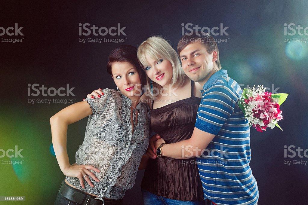 Portrait of three friends royalty-free stock photo