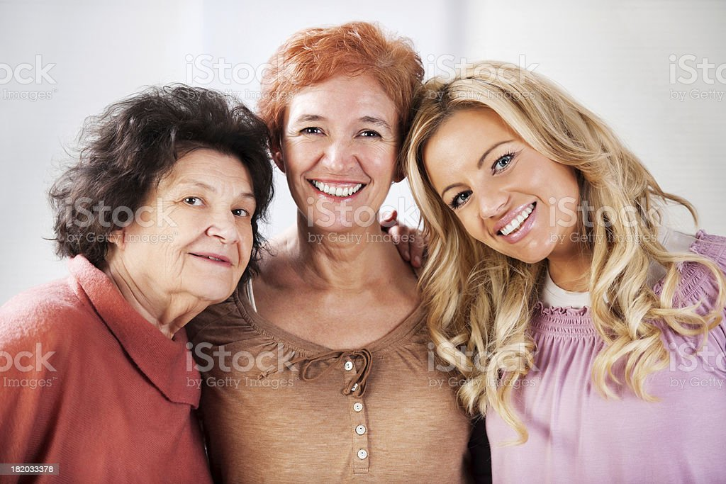 Portrait of three generations female. royalty-free stock photo
