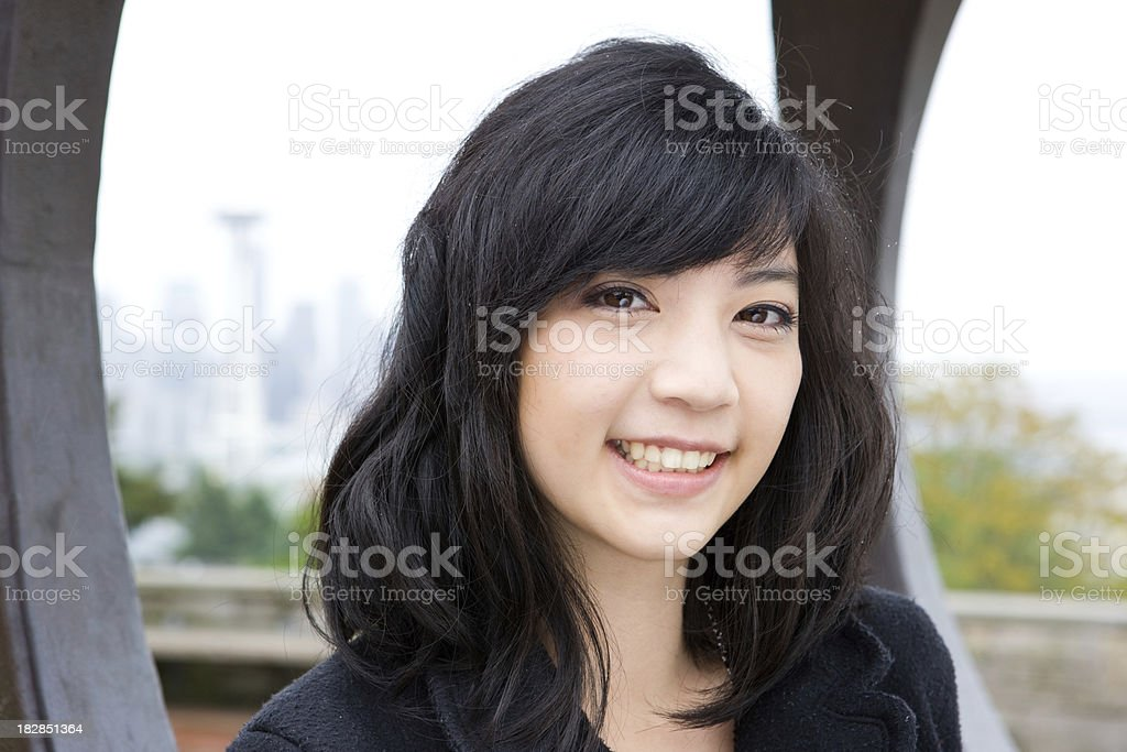 Portrait Of Tourist In Seattle royalty-free stock photo