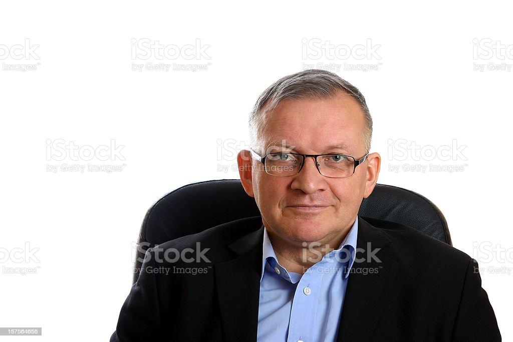 Portrait of trustworthy businessman stock photo