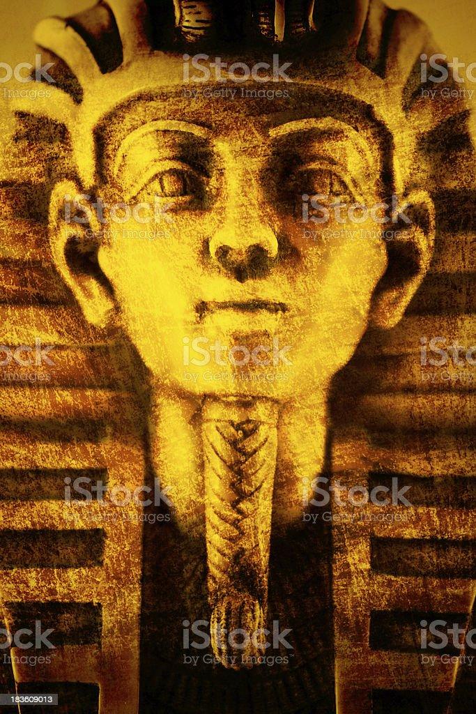 portrait of Tutankhamun stock photo