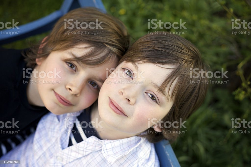 portrait of two boys royalty-free stock photo
