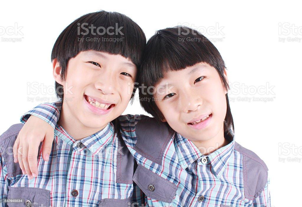 Portrait of two boys, twins Lizenzfreies stock-foto