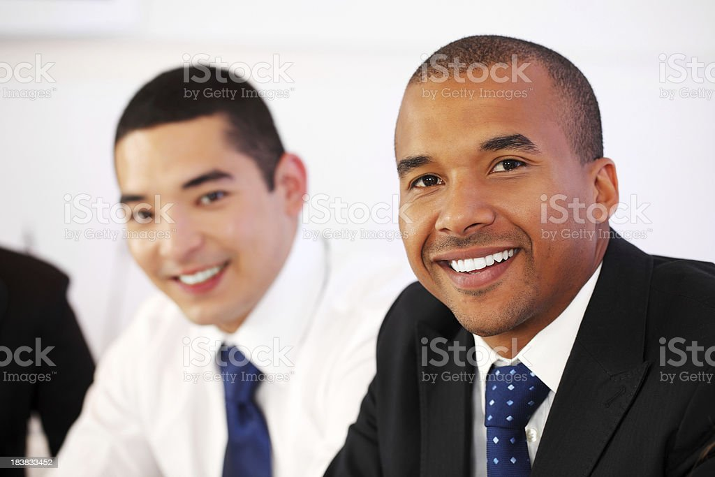 Portrait of two business colleagues. royalty-free stock photo