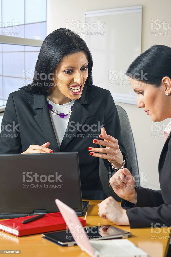 Portrait of two business women royalty-free stock photo