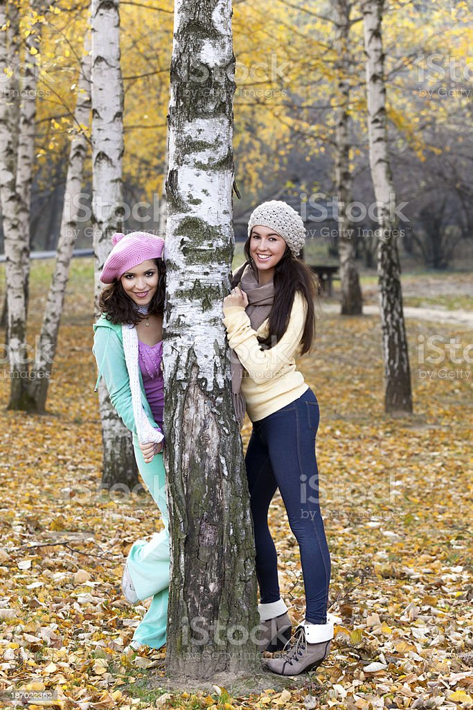 Portrait of two woman royalty-free stock photo