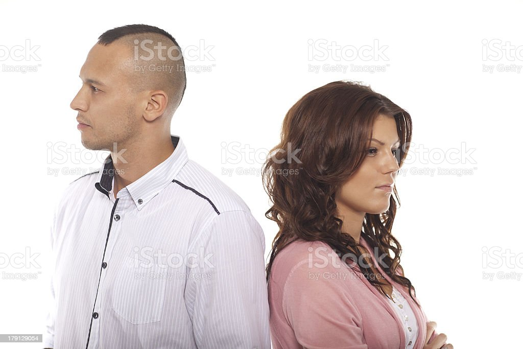 Portrait Of Unhappy Young Couple royalty-free stock photo
