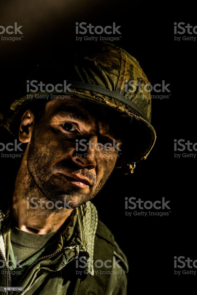 Portrait of War stock photo