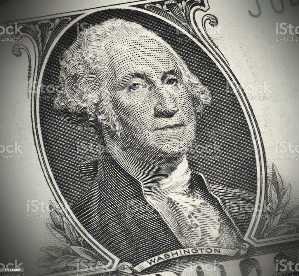 Portrait of Washington on the Dollar Bill royalty-free stock photo