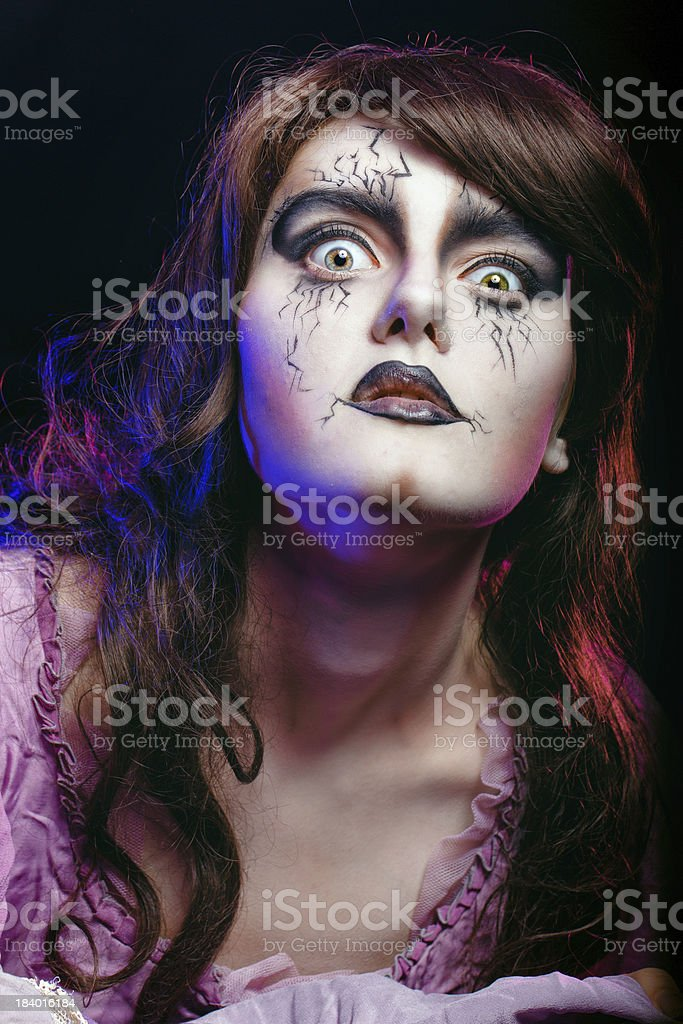 Portrait of witch stock photo