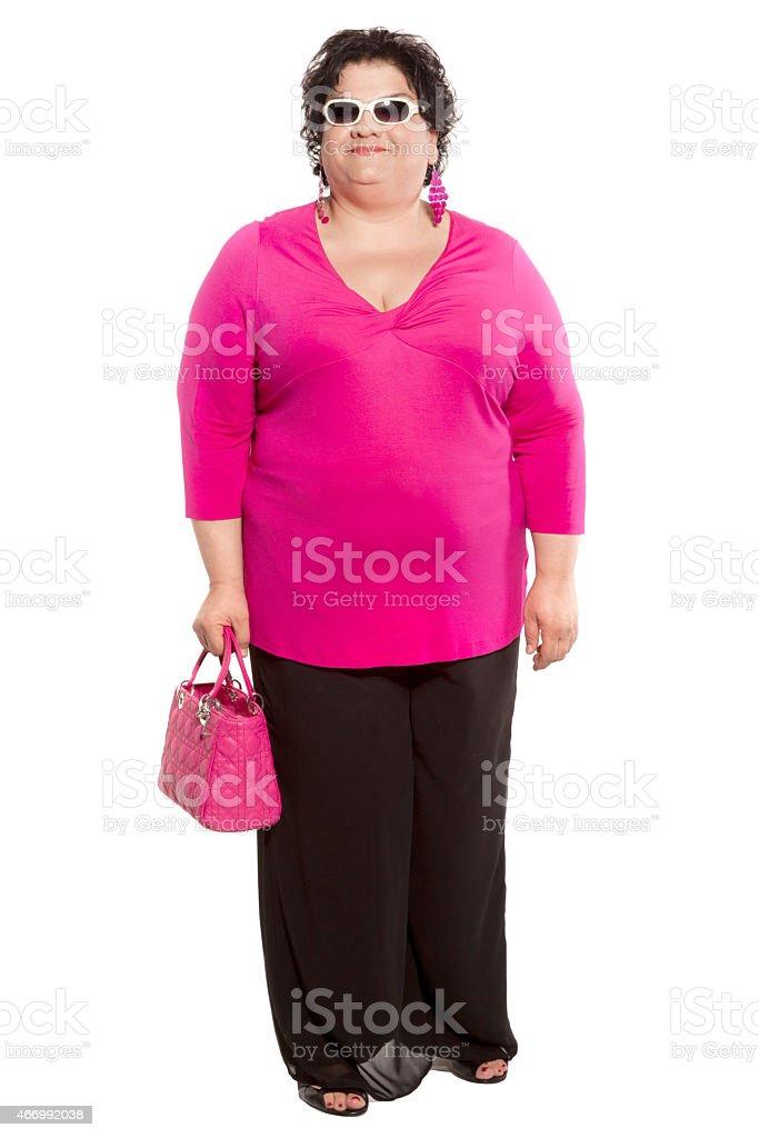 portrait of woman fashionable stock photo